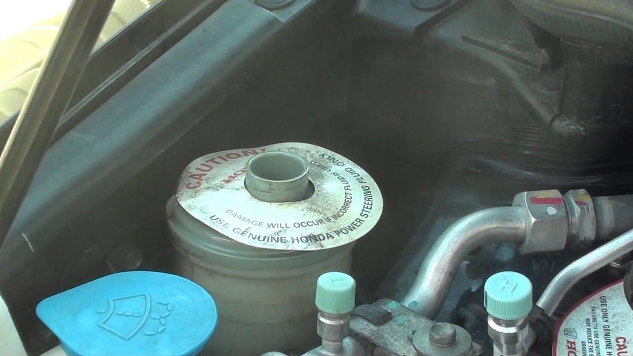 Honda Civic How To Refill Steering Oil Fluid