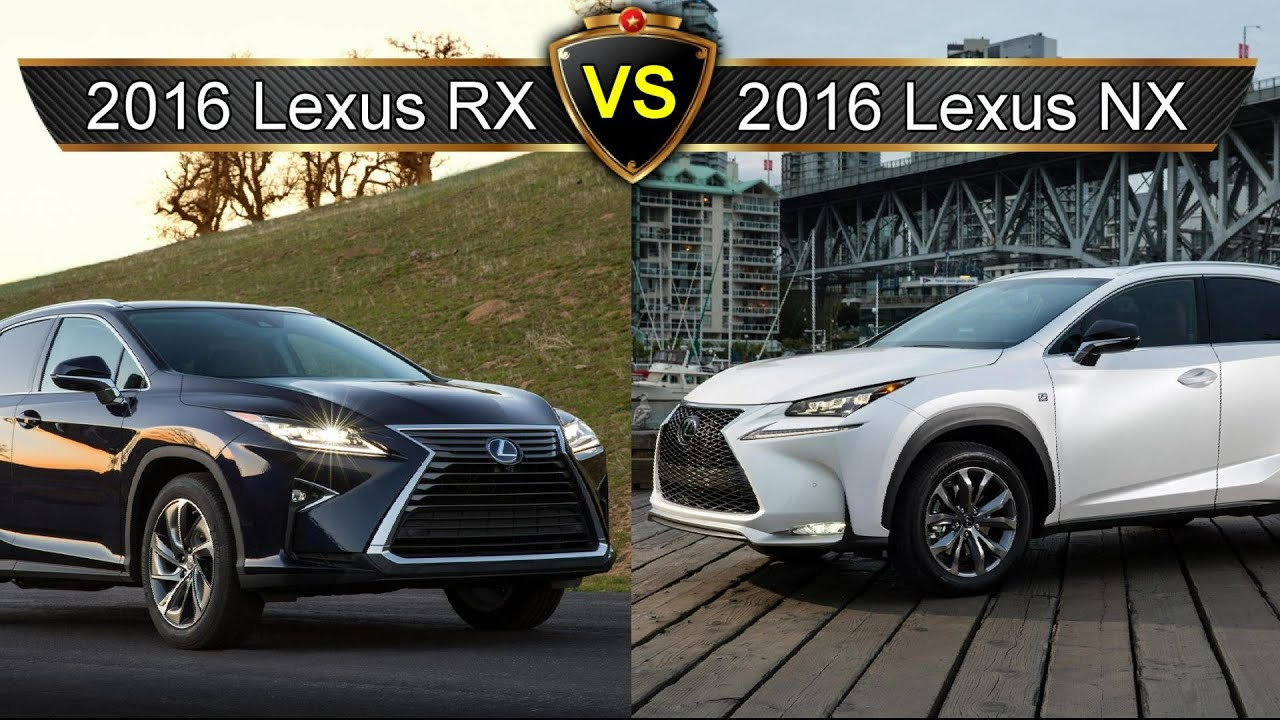 2016 lexus rx vs lexus nx by the numbers sibling. Black Bedroom Furniture Sets. Home Design Ideas