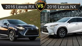 2016 Lexus RX vs. Lexus NX: By the Numbers (Sibling Rivalry Edition)