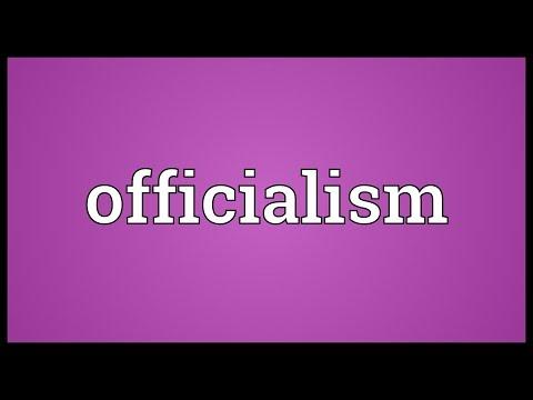Header of officialism