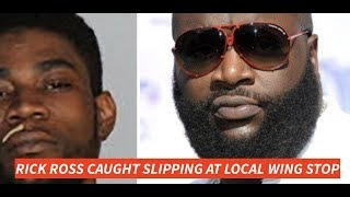 RIck Ross Caught Slipping at Memphis WIng Stop when Aspiring Rapper  Violates Trying to Get SIgned