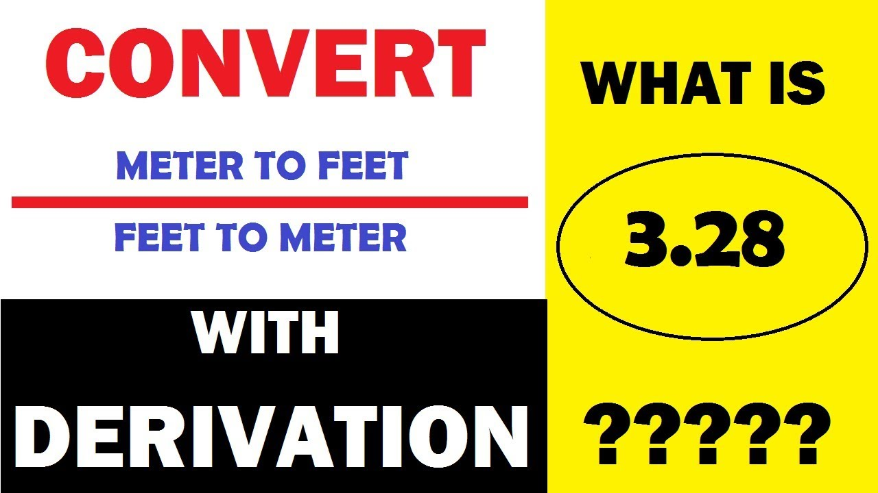 How To Convert Square Meter M2 To Square Feet Ft2 With Derivation Learning Technology Youtube