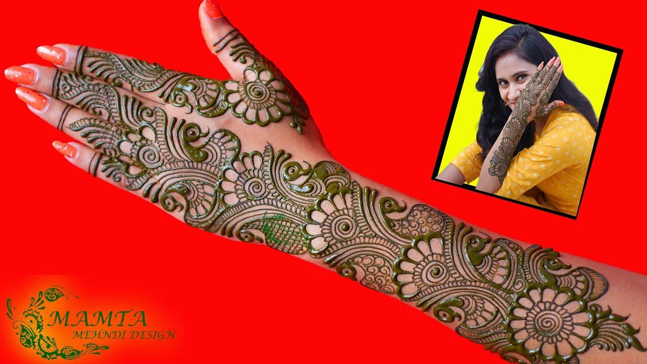 Latest New Simple and Easy Style Indo-Arabic Mehndi Design 2021   Mamta Mehndi Design