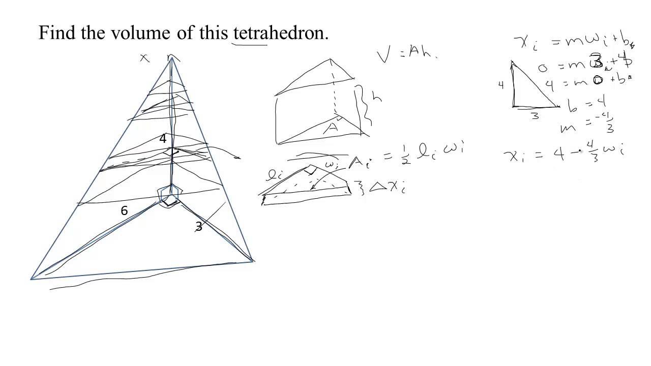611 Volume Of A Tetrahedron