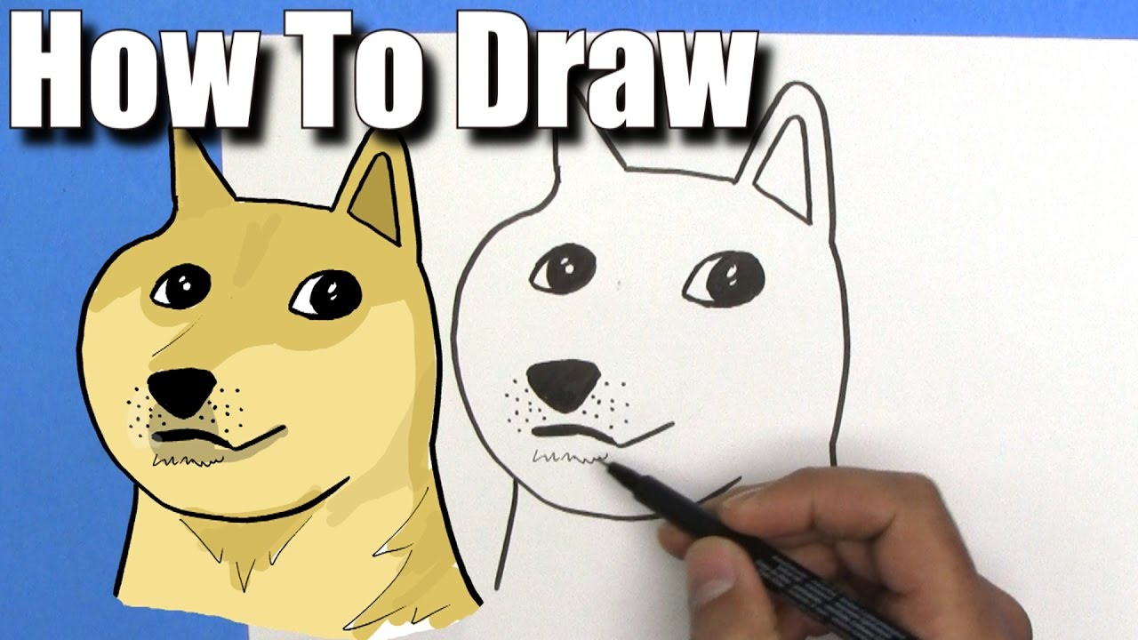 How To Draw Doge Easy Step By Step Youtube