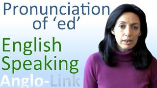 pronunciation of ed english speaking lesson