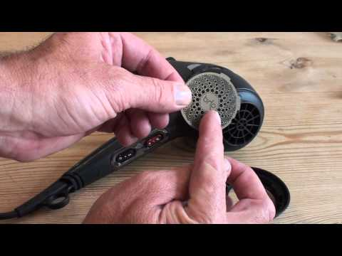 How to clean the ghd Air Hairdryer back filter.
