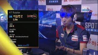 [SK 텔레콤 프로리그2015] 조성호(진에어) vs 이승현(KT) 4세트 테라폼 -EsportsTV, 스타크래프트 2