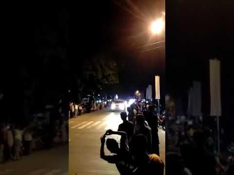 Presiden RI Bapak Jokowi lewat di kecamatan Majenang Cilacap