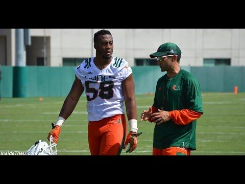 Miami Hurricanes Practice 5: Linebacker Drill