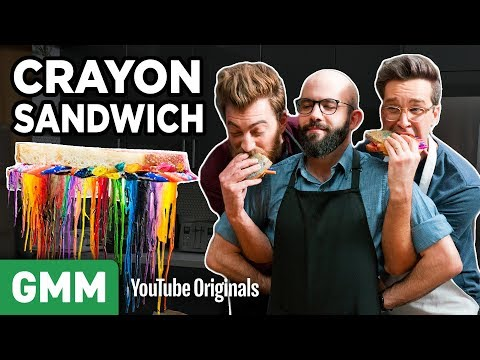 The Simpsons Grilled Crayon Sandwich ft. Binging With Babish