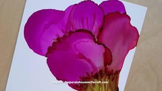 Alkol ''S ile çiçek resim ipucu'' pamuklu çubukla mürekkep