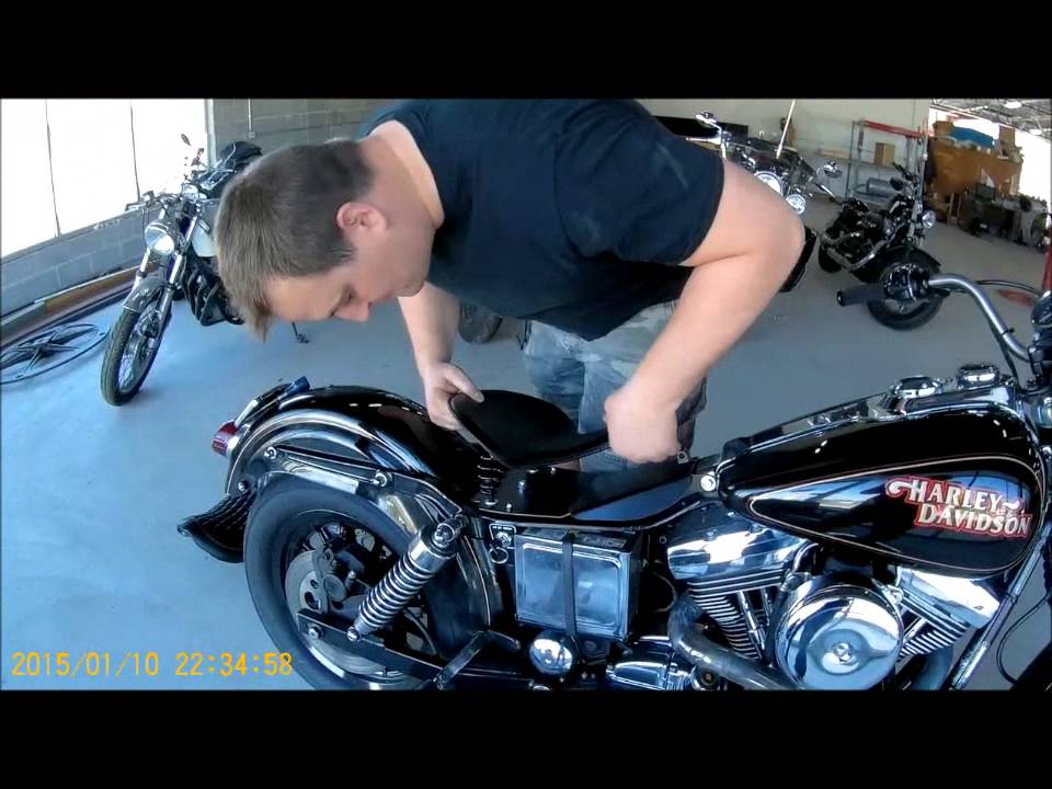 1996 2005 Harley Dyna Spring Solo Seat Mounting Kit Mounting Video Mother Road Customs Youtube