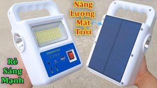 Đèn Tích Điện Năng Lượng Mặt Trời 4 trong 1 Này mà Độ Pin thì dung lượng khủng luôn