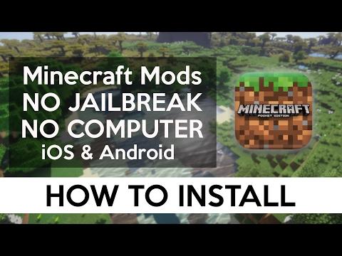 How To Install Mods Ios Android No Computer No Jailbreak Minecraft Pe