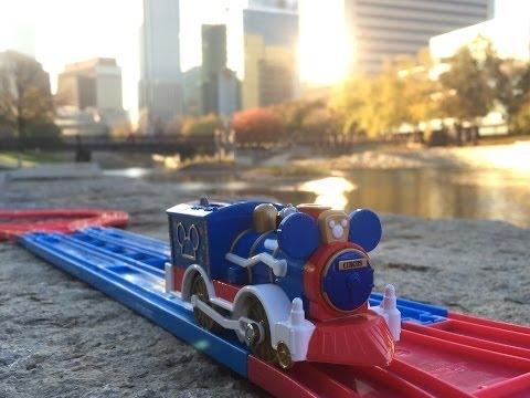 Micky Mouse Train visit Downtown Omaha, Nebraska【Takara TOMY Plarail】02054 en