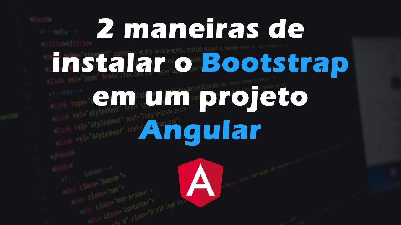 2 maneiras simples de instalar o Bootstrap em um projeto
