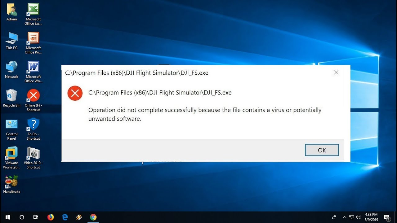 keygen operation did not complete because file contains a virus