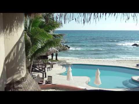 """Hotel """"Playa La Media Luna"""" view in Isla Mujeres, Mexico."""