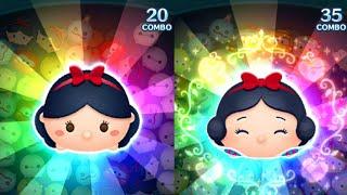 「ツムツム x Tsum Tsum」白雪公主 白雪姫 Snow White VS ハッピー白雪姫 Happy Snow White 開心白雪公主