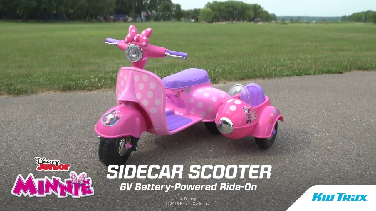 Minnie Mouse Happy Helpers Scooter With Sidecar Ride On Youtube