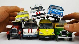 Специальные автомобили часть 2. Что внутри Скорой ? Много разных машинок моделек. Про машинки!