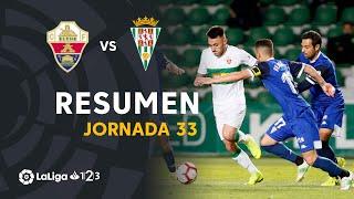 Resumen de Elche CF vs Córdoba CF (1-0)