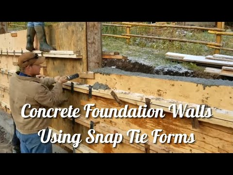 Concrete Foundation Walls Using Snap Tie Forms