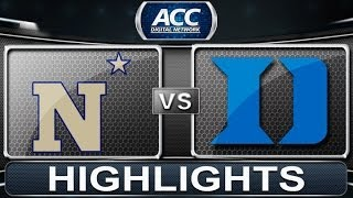 2013 ACC Football Highlights | Navy vs Duke | ACCDigitalNetwork