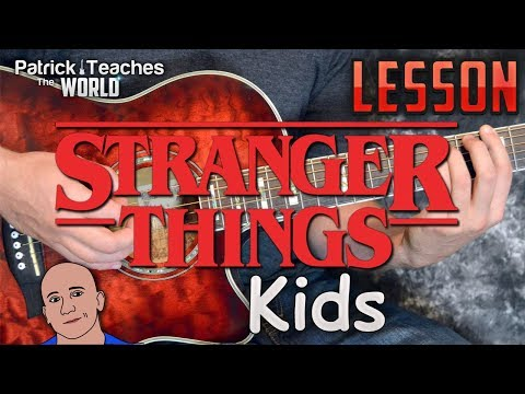 Stranger Things-Kids-Guitar Lesson-Tutorial-How to Play-Tabs-Play Along