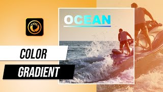 Using Color Gradient to Create Impressive Title and Shapes   PhotoDirector Photo Editor Tutorial