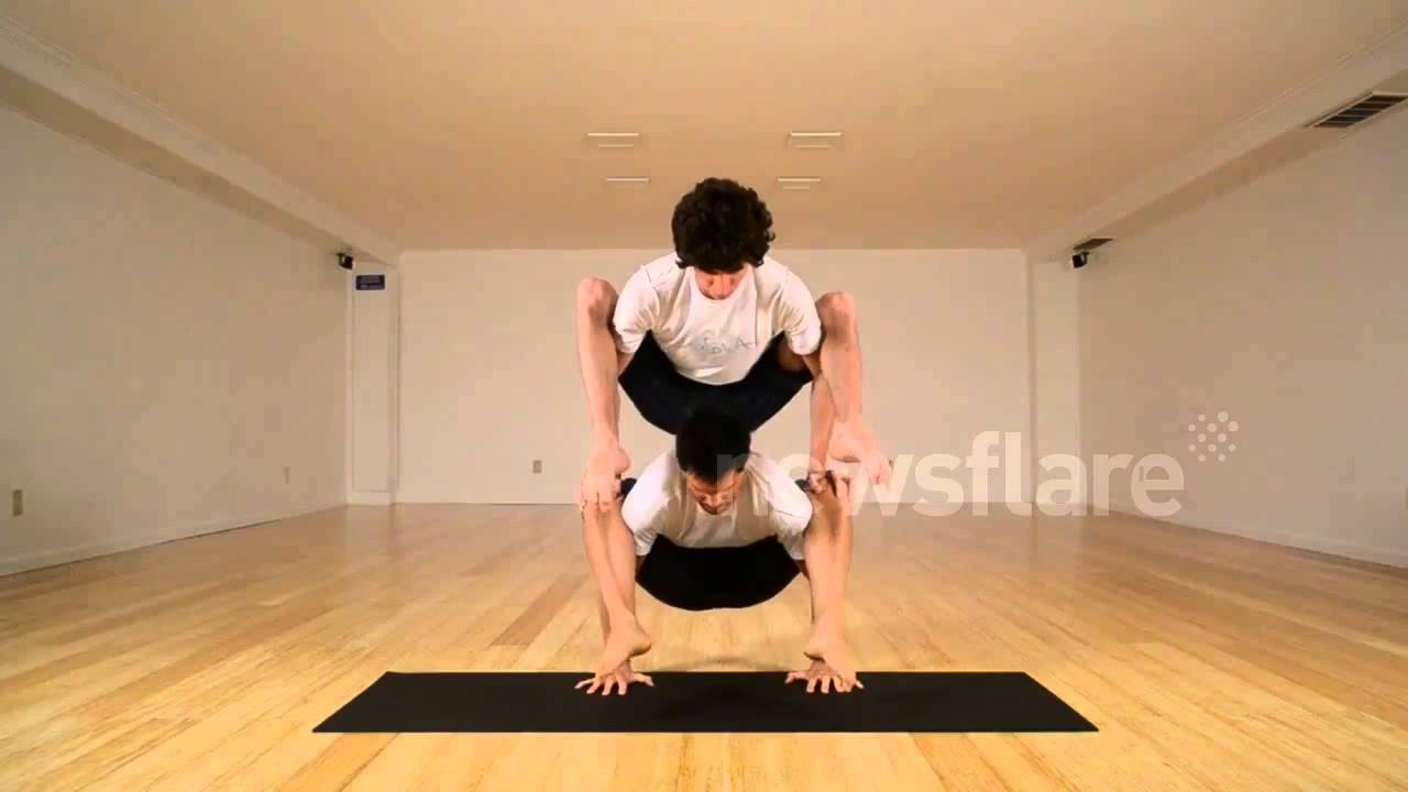Yoga Duo Show Off Their Skills