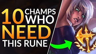 Top 10 CHAMPS who MUST Abuse the NEW CONQUEROR - Pro Rune Tips (Season 10) | League of Legends Guide