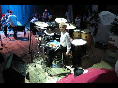 Pharrell Williams - Happy - Drum Cover + Best  Drum solo - Drummer Daniel Varfolomeyev 11 years