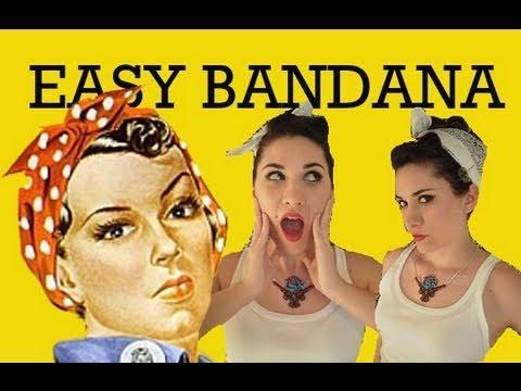 Easy Rockabilly Bang and Bandana Hairstyle - 1950's Hair ...