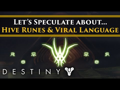 Destiny 2 Lore - Let's Speculate About The Hive Runes On The Crown Of Sorrow (Also Viral Language?)
