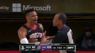 Russell Westbrook Gets Into Altercation With Rajon Rondo's Brother | Rockets vs. Lakers Game 5