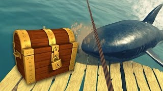 СУНДУКИ И НОВАЯ ЗЛАЯ АКУЛА - Raft #4