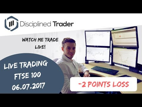 Live Day Trading (Indices/Forex) - 6th July 2017 - Small Down Day