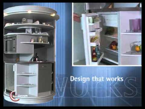 circle kitchen la cuisine ronde signee compact concepts youtube. Black Bedroom Furniture Sets. Home Design Ideas