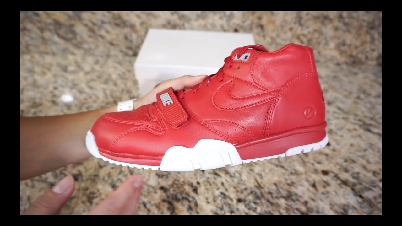 buy popular 42691 ef1a2 Review  26  Nike Air Trainer 1 Mid x Fragment (Gym Red) 2015