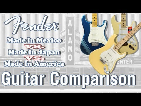 Fender Mexican vs Japanese vs American Made - Guitar Comparison from YouTube · Duration:  13 minutes 12 seconds