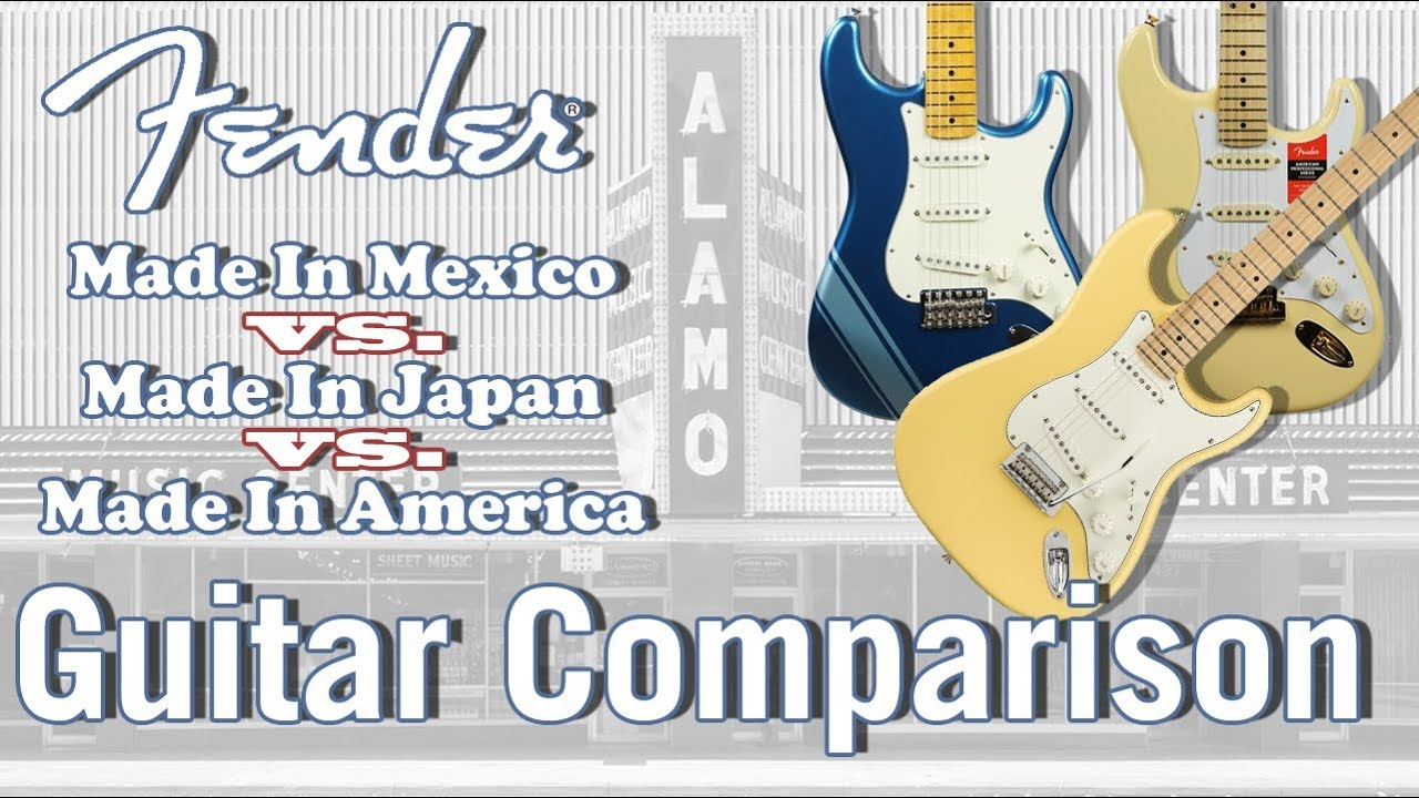 Fender Mexican vs Japanese vs American Made - Guitar Comparison