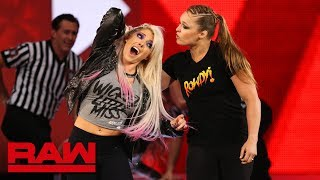 Download Ronda Rousey violates suspension to brutalize Alexa Bliss: Raw, July 16, 2018 Mp3 and Videos