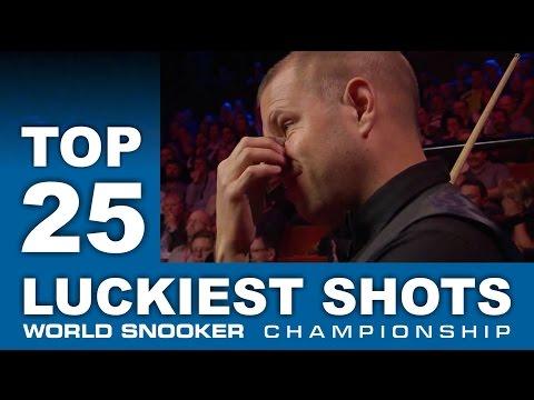 TOP SHOTS!!! 25 LUCKIEST SHOTS | World Snooker Championship 2017