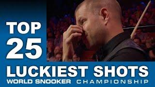 World Snooker - TOP 25 LUCKIEST SHOTS | World Snooker Championship 2017