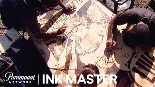 'Burn Baby Burn: Wood Burning 🔥Flash Challenge' Sneak Peek | Ink Master: Grudge Match (Season 11)