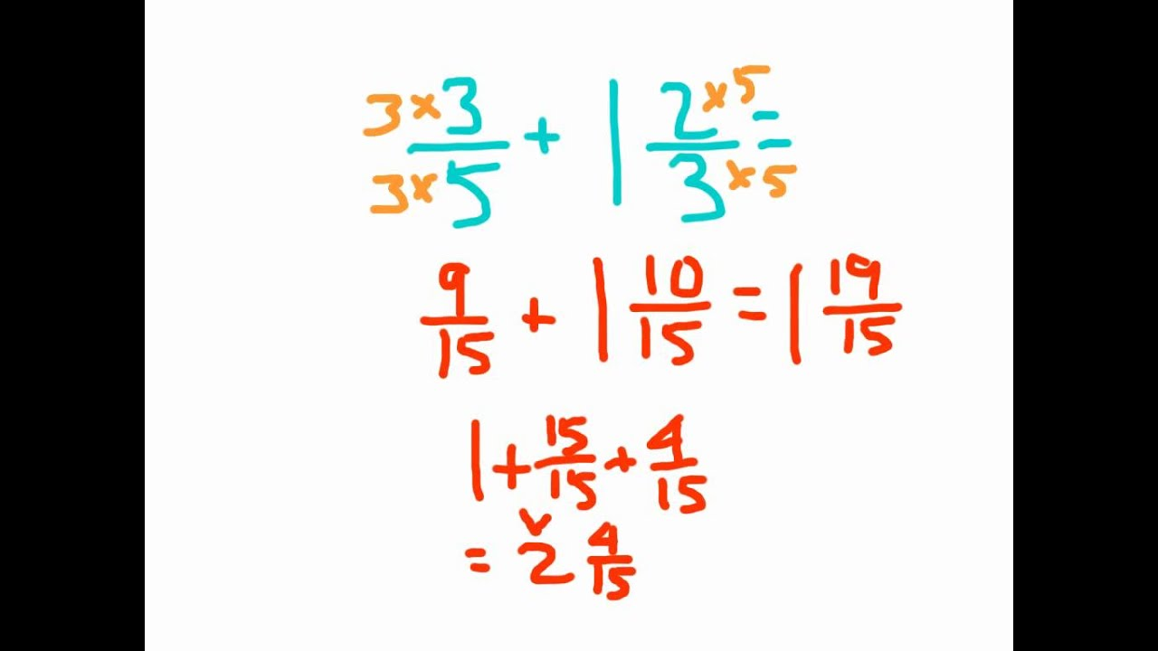 Adding Mixed Numbers And Fractions With Regrouping