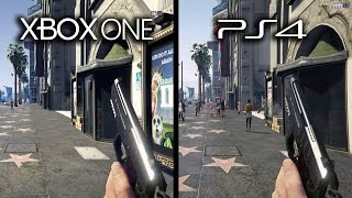 Grand Theft Auto V Xbox One vs Playstation 4 Graphics Comparison (GTA V XB1 vs PS4)