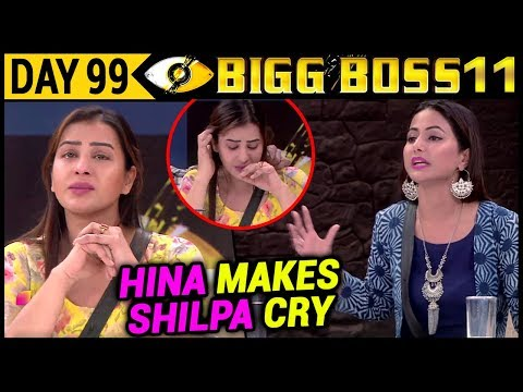 Hina Khan Makes Shilpa Shinde Cry In Front of Media | Bigg Boss 11 8th January 2017 Episode Update